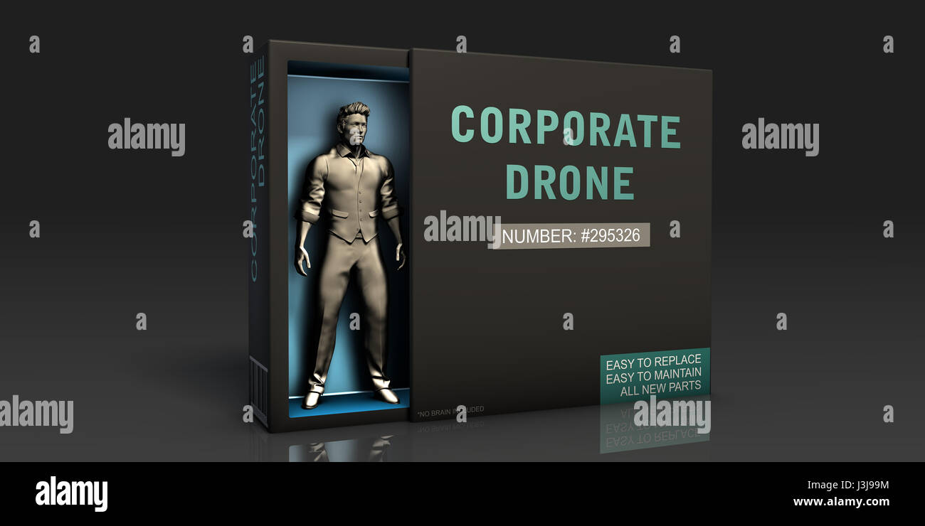 Corporate Drone Employment Problem and Workplace Issues - Stock Image