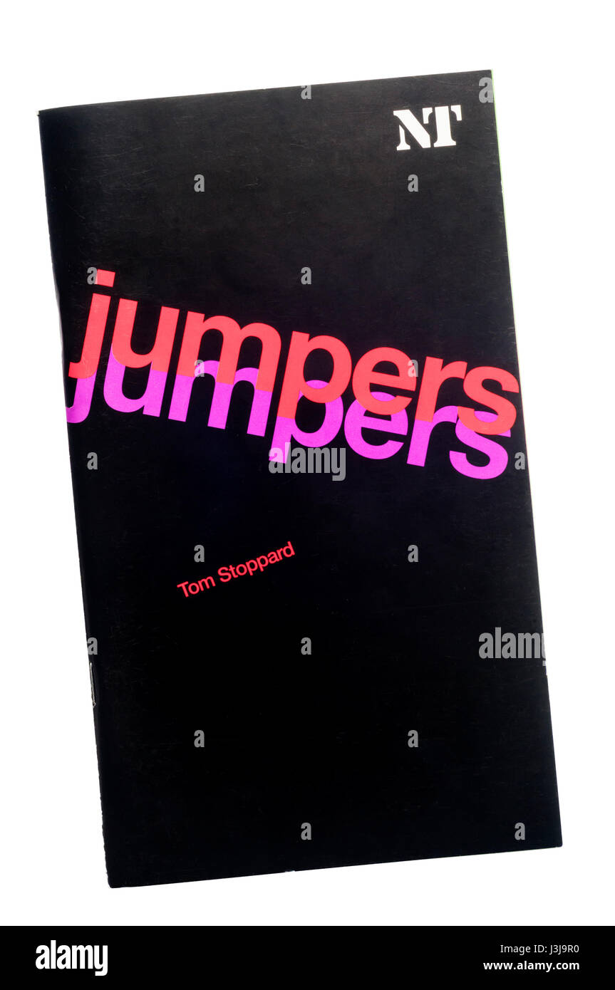 Programme for the 2003 production of Jumpers by Tom Stoppard at the Lyttelton Theatre. - Stock Image