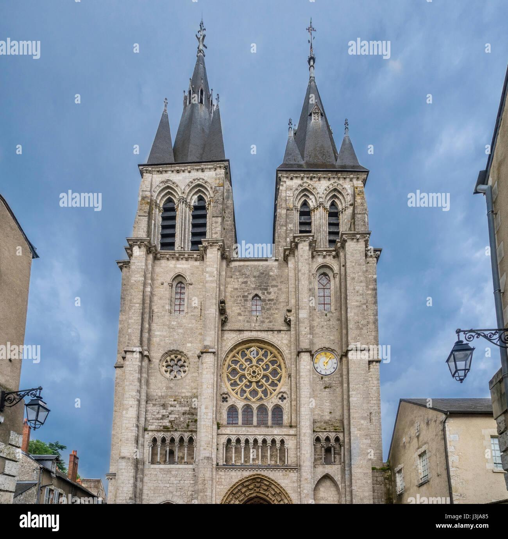 France, Centre-Val de Loire, Blois, view of St. Nicholas Church - Stock Image