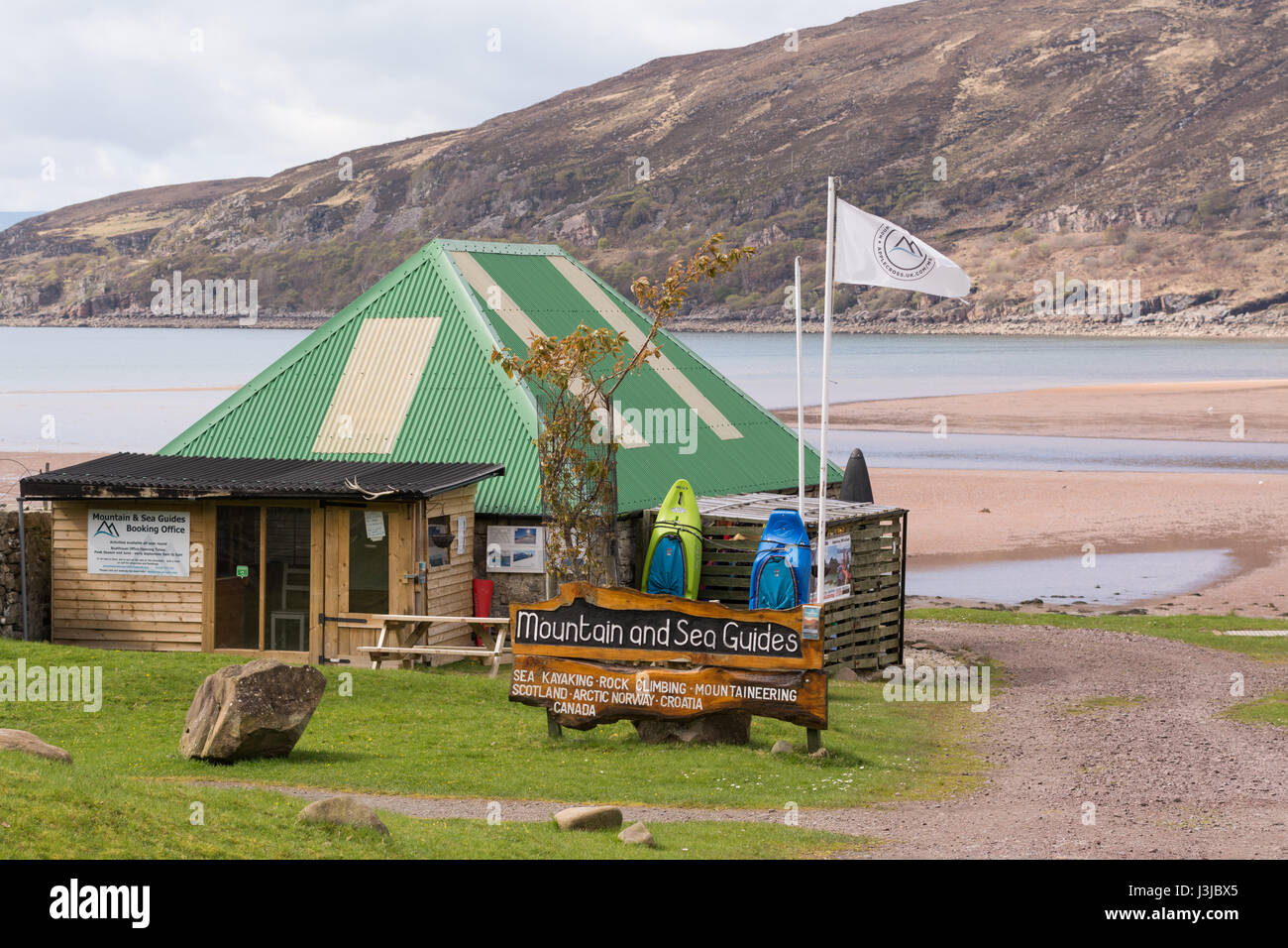 Mountain and Sea Guides adventure activity centre - Applecross, Wester Ross, Scotland,UK - Stock Image