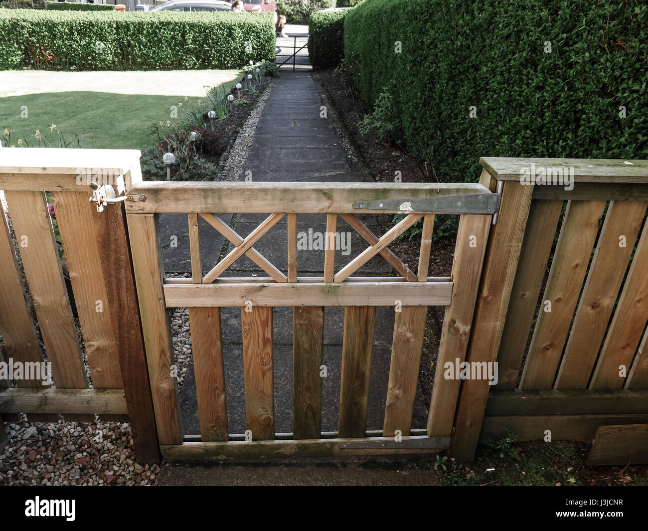 Wooden Garden Gate And Path   Stock Image