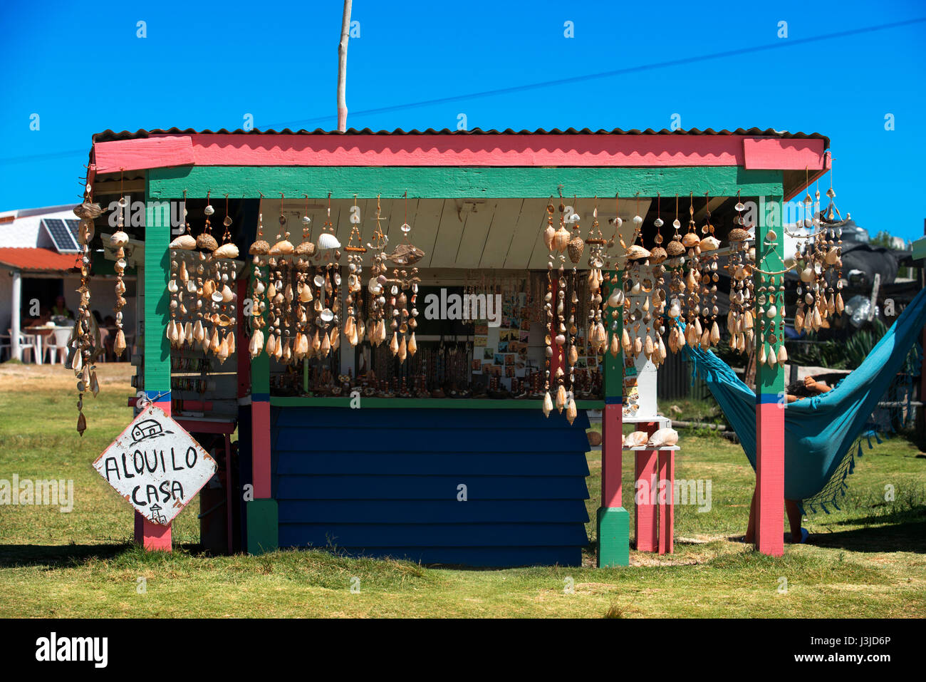 Casa Hippies : Rental hippie houses in cabo polonio rocha uruguay stock photo