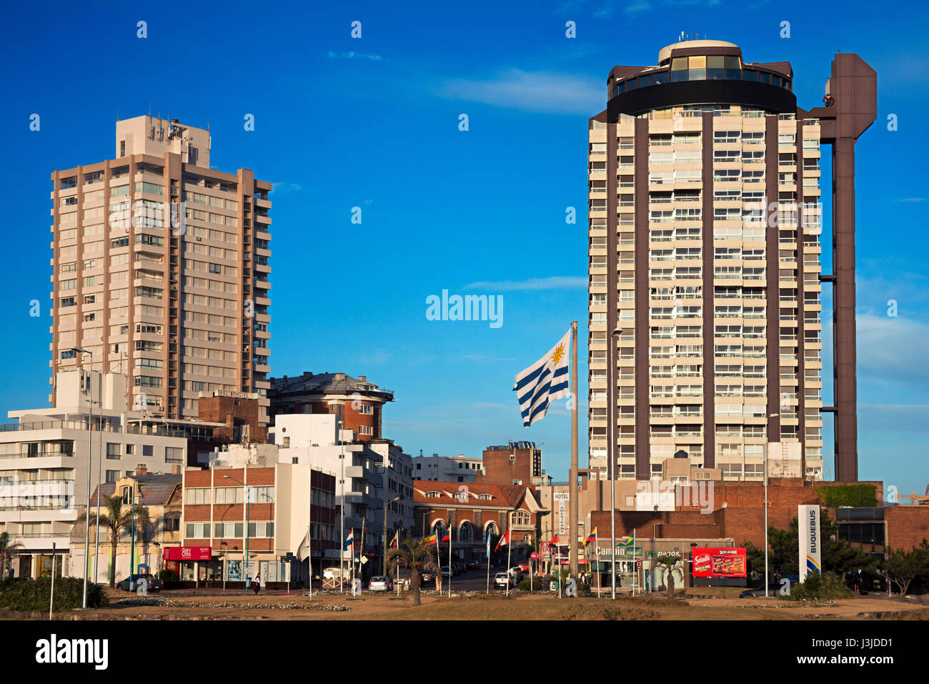 Buildings in the beach front in Playa Brava, Punta del Este, Uruguay. Stock Photo