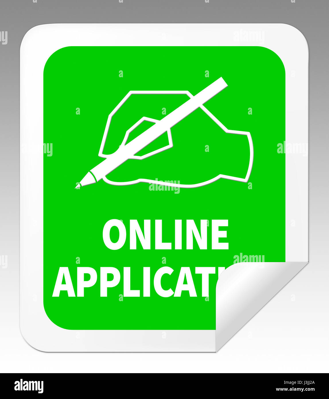 Online Application Icon Means Internet Job 3d Illustration Stock
