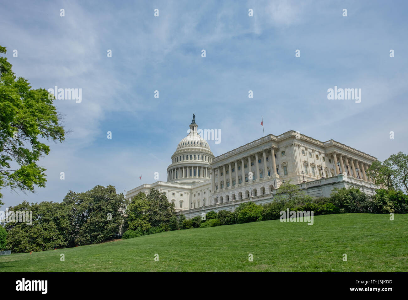 U.S. Capitol Building and Lawn - Stock Image