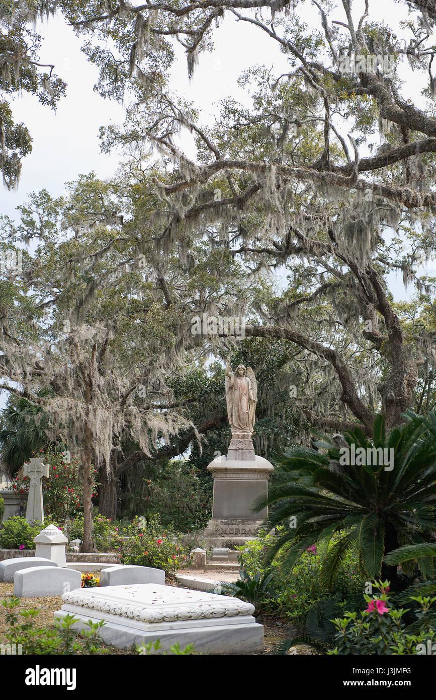 Bonaventure Cemetery, Savannah, Georgia. Stock Photo