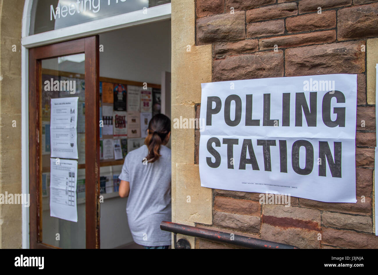 General election polling poll station sign - Stock Image