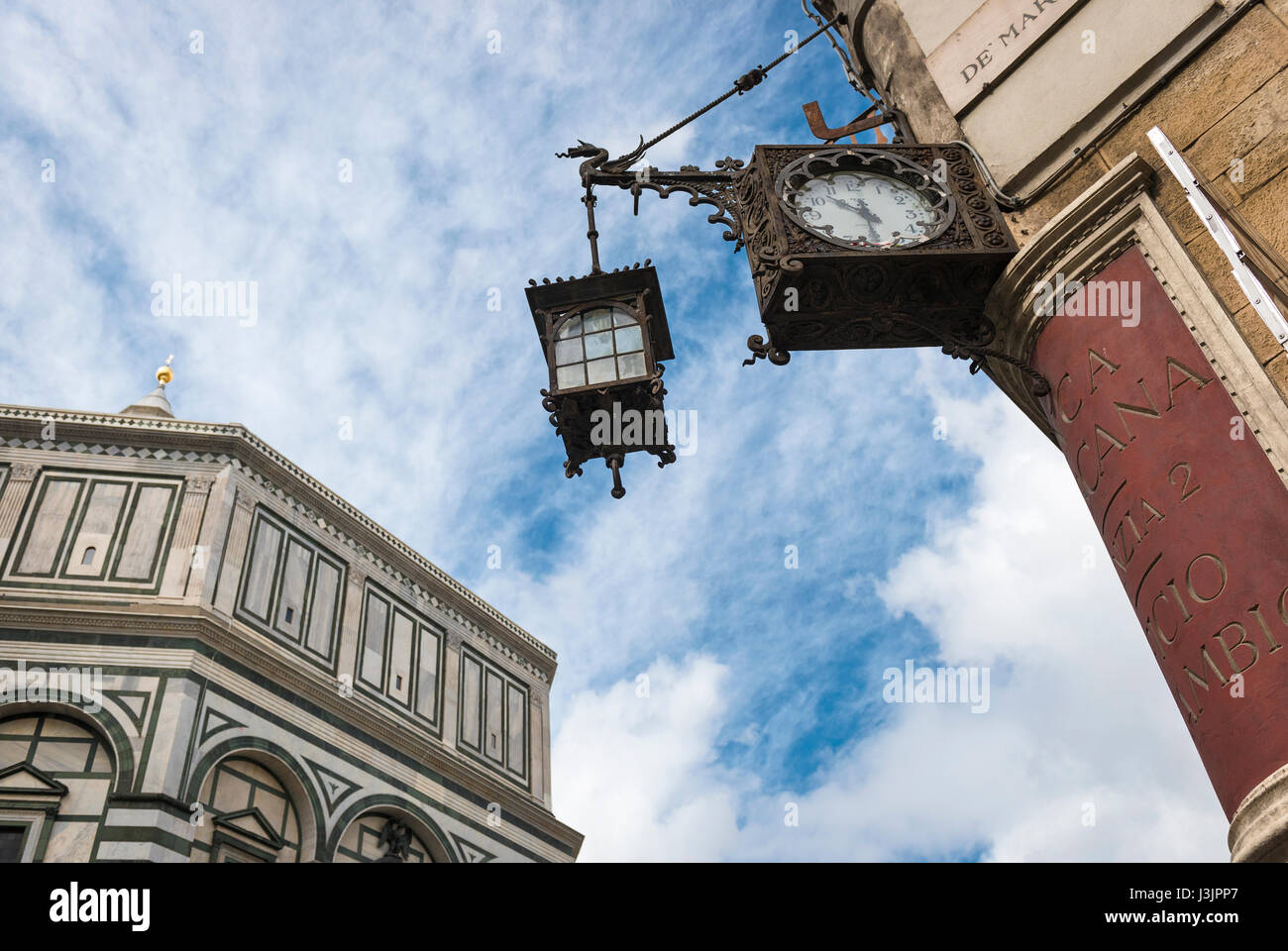 Historic and modern architectural elements In Florence landscape set ...