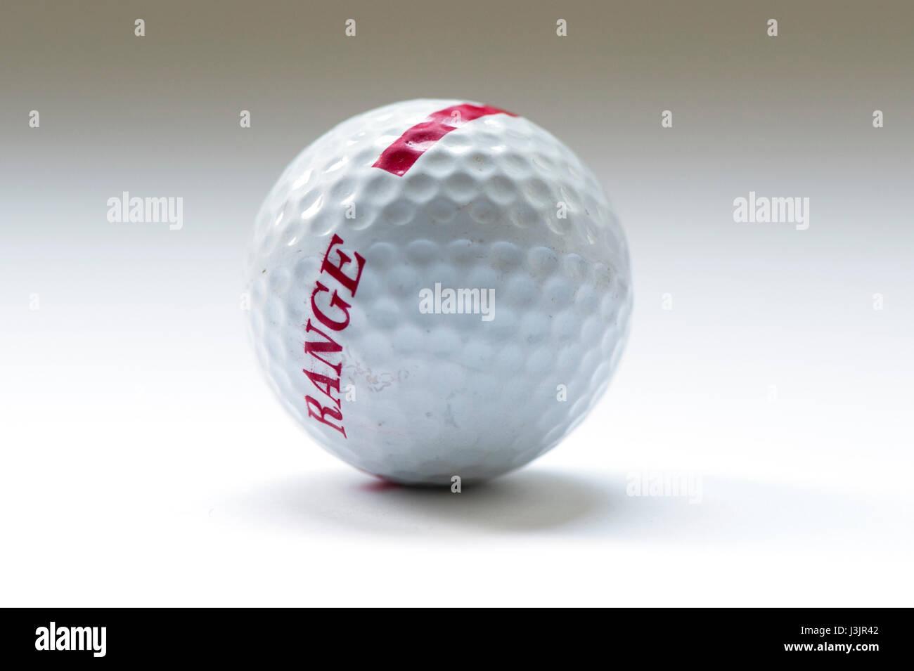 one golf ball - Stock Image