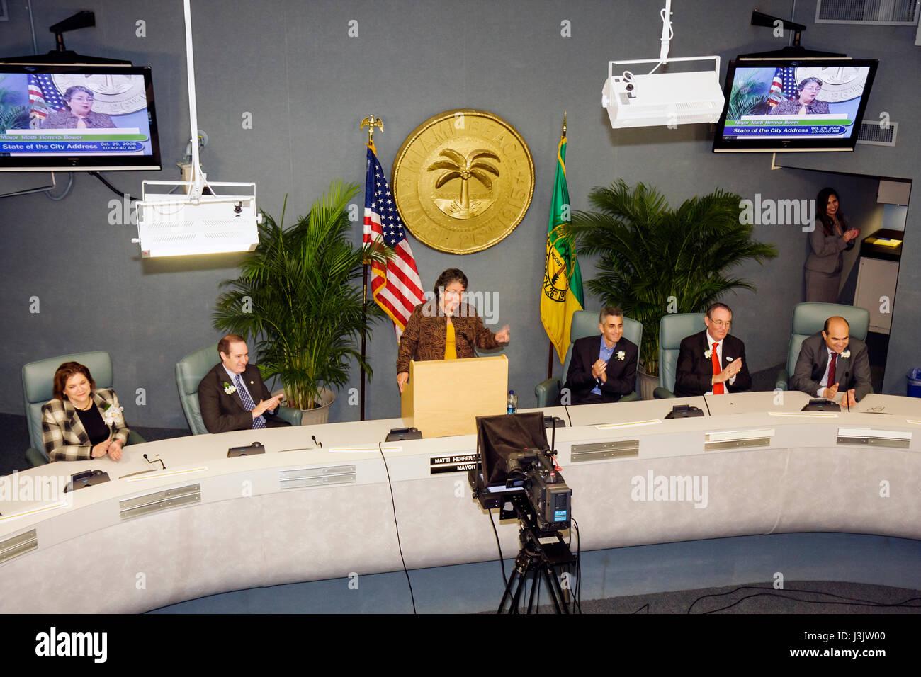 Miami Beach Florida City Hall State of the City Address
