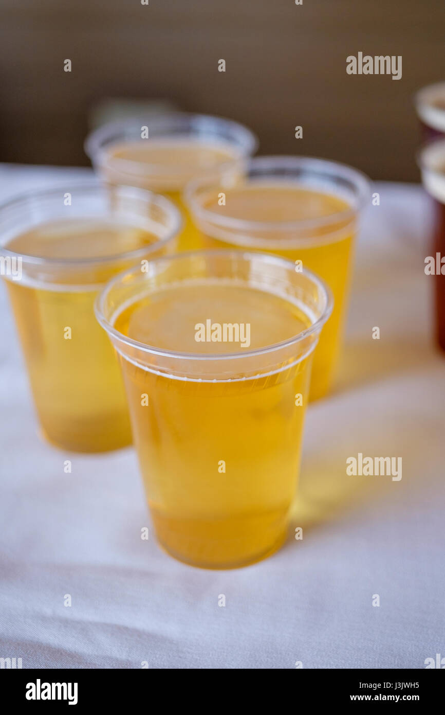 Craft Beer at Wedding Reception - Stock Image