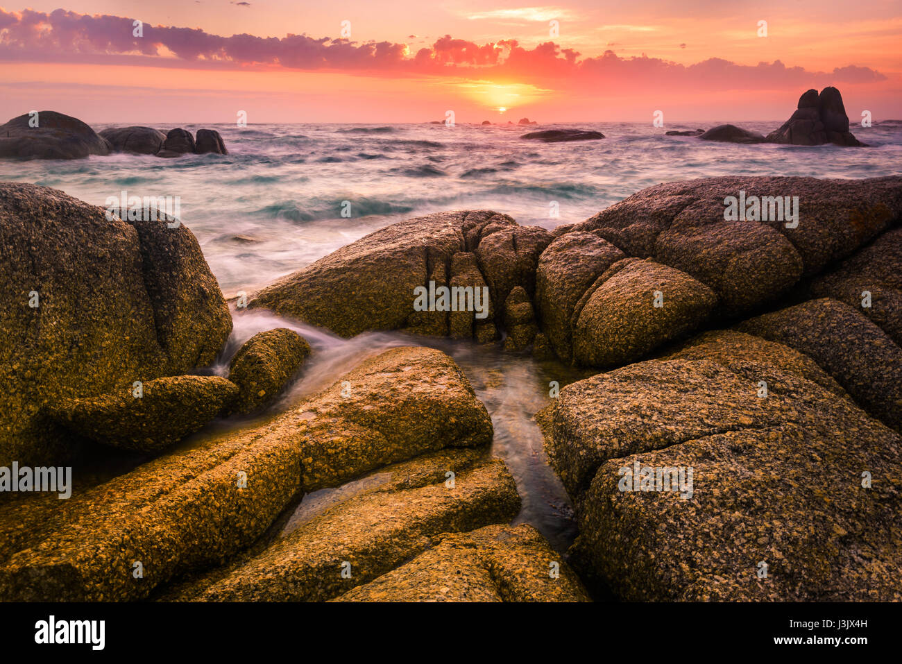Deep Creek (Picnic Rocks) at Mount William National Park, Bay of Fires, Tasmania - Stock Image