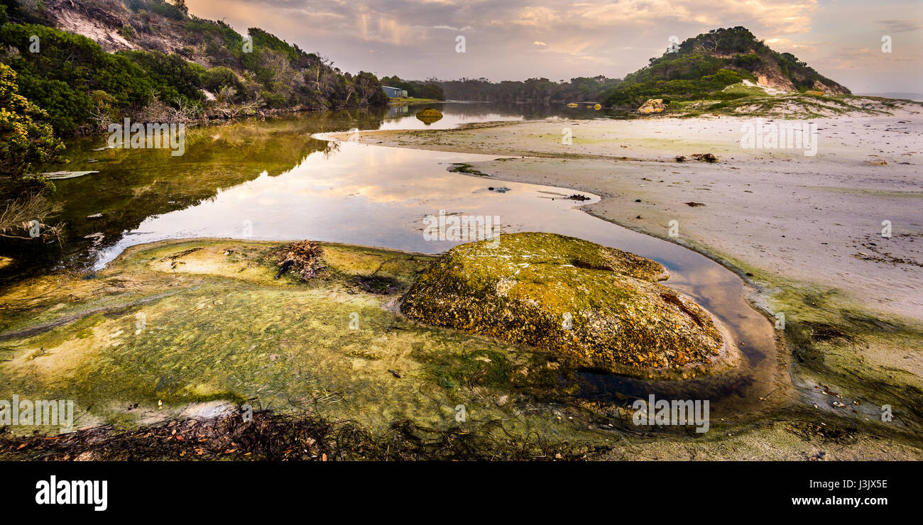 Deep Creek at Mount William National Park, Bay of Fires, Tasmania - Stock Image