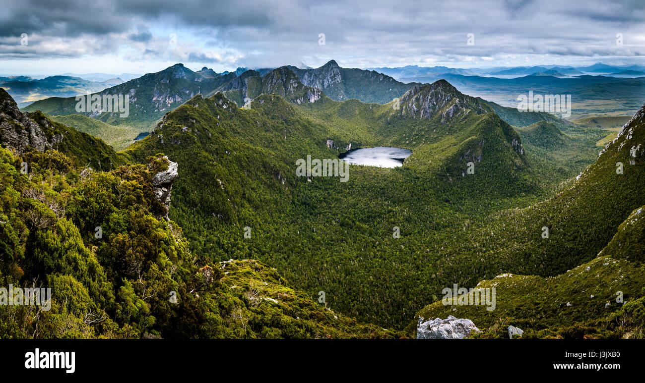 Lake Jupiter in Western Arthur's Range, Southwest Tasmania - Stock Image
