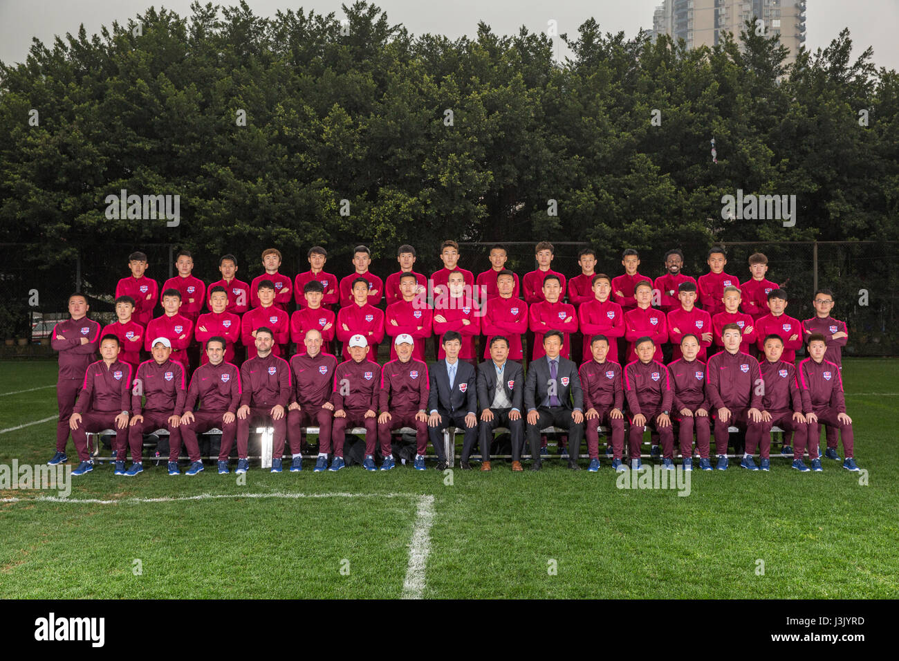 966f0b12d Group shot of players of Chongqing Dangdai Lifan F.C. for the 2017 Chinese  Football Association Super League