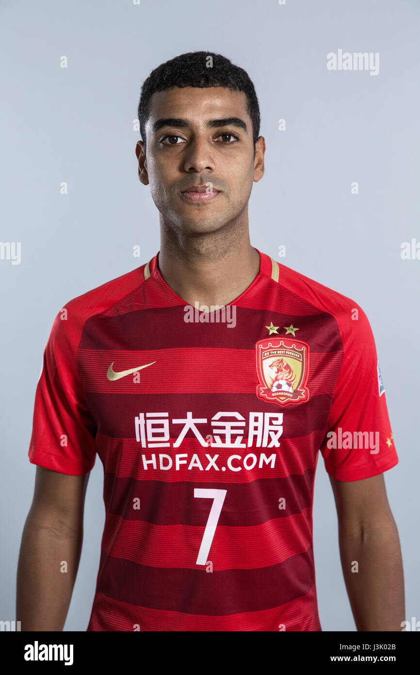 c9c616d3d Portrait of Brazilian soccer player Alan Carvalho of Guangzhou Evergrande  Taobao F.C. for the 2017 Chinese Football Association Super League