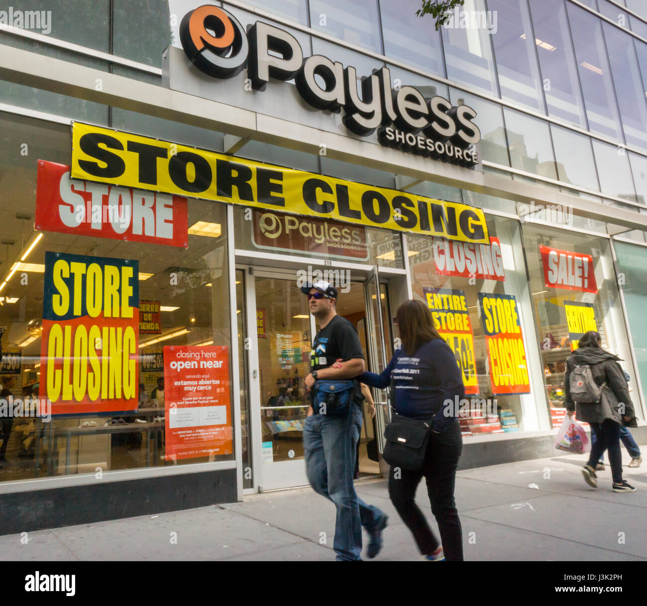 9dc85ccf6f9 A Payless ShoeSource store in New York advertises its store closing sales  on Wednesday