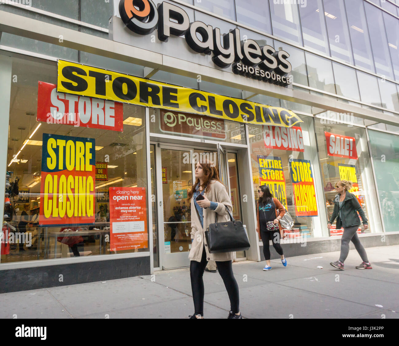7fee56e1a A Payless ShoeSource store in New York advertises its store closing sales  on Wednesday
