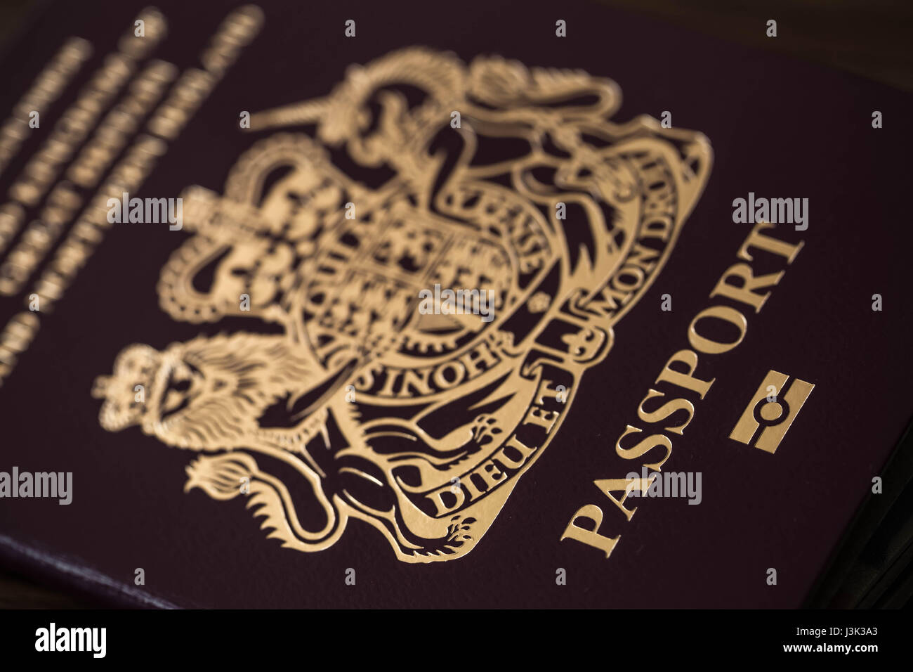 Passport of the United Kingdom of Great Britain and Northern Ireland. - Stock Image