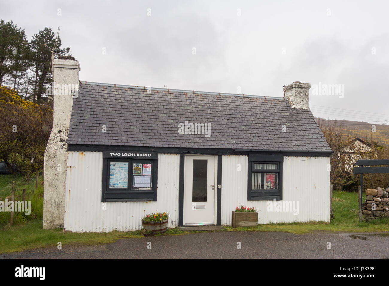 Gairloch - Two Lochs Radio - Britains smallest commercial radio station and community broadcaster, Wester Ross, - Stock Image
