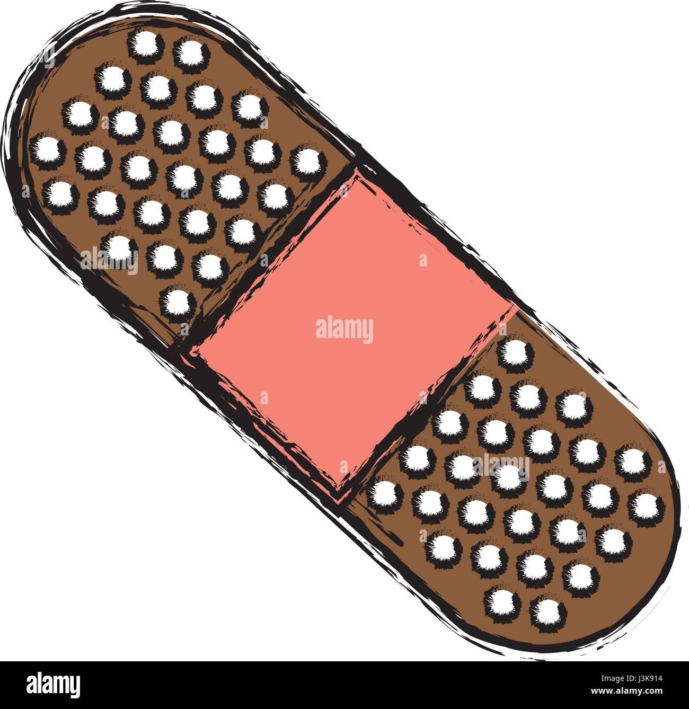 adhesive bandage icon - Stock Image
