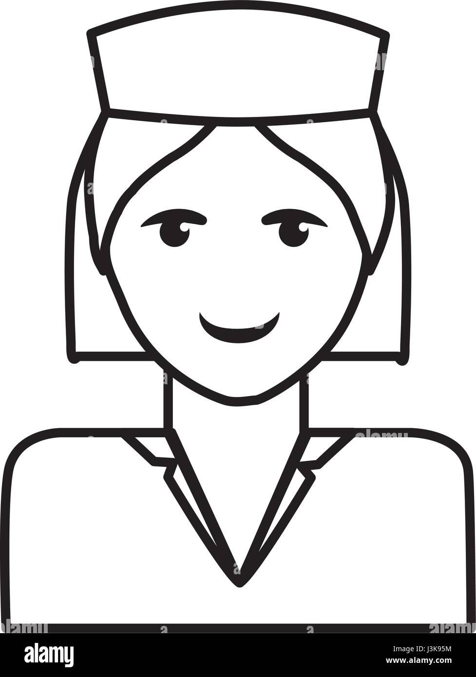 medical nurse icon - Stock Vector
