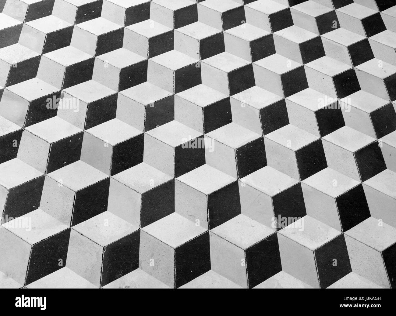 chequered floor - Stock Image