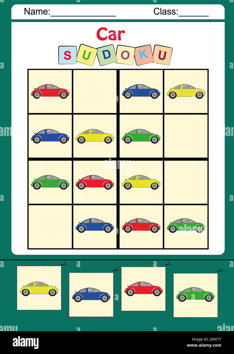 Funny picture sudoku for kids Stock Photo: 139955199 - Alamy
