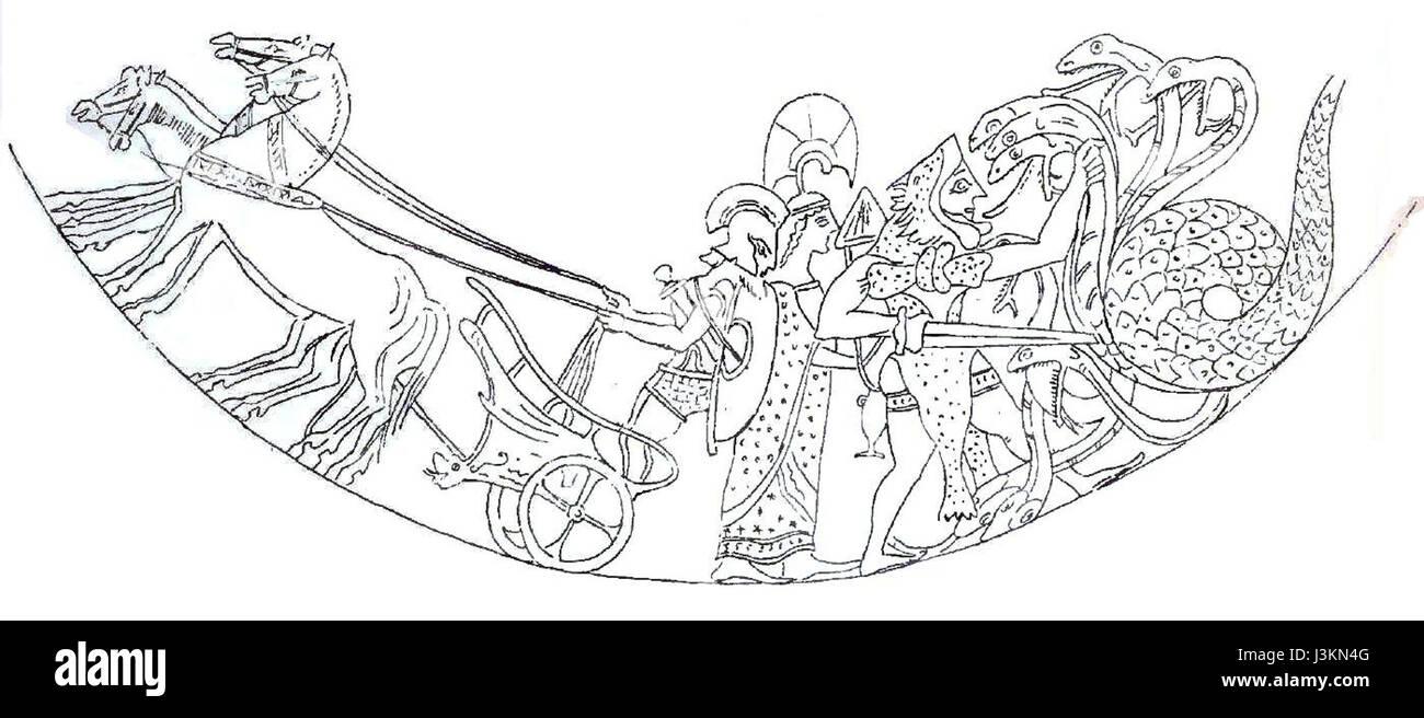Hydra Pediment II - Stock Image