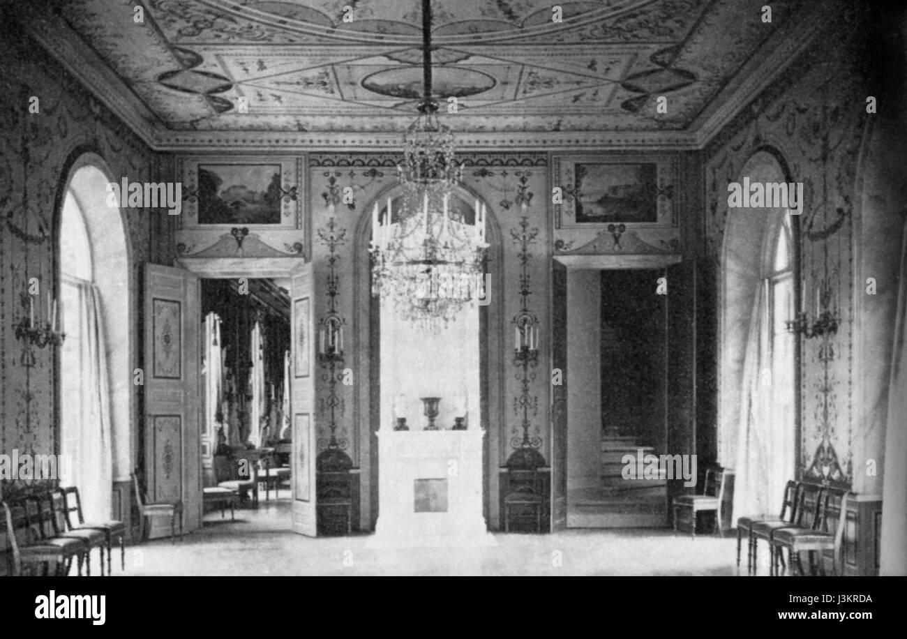 Gustav III paviljong matsal 1890 - Stock Image