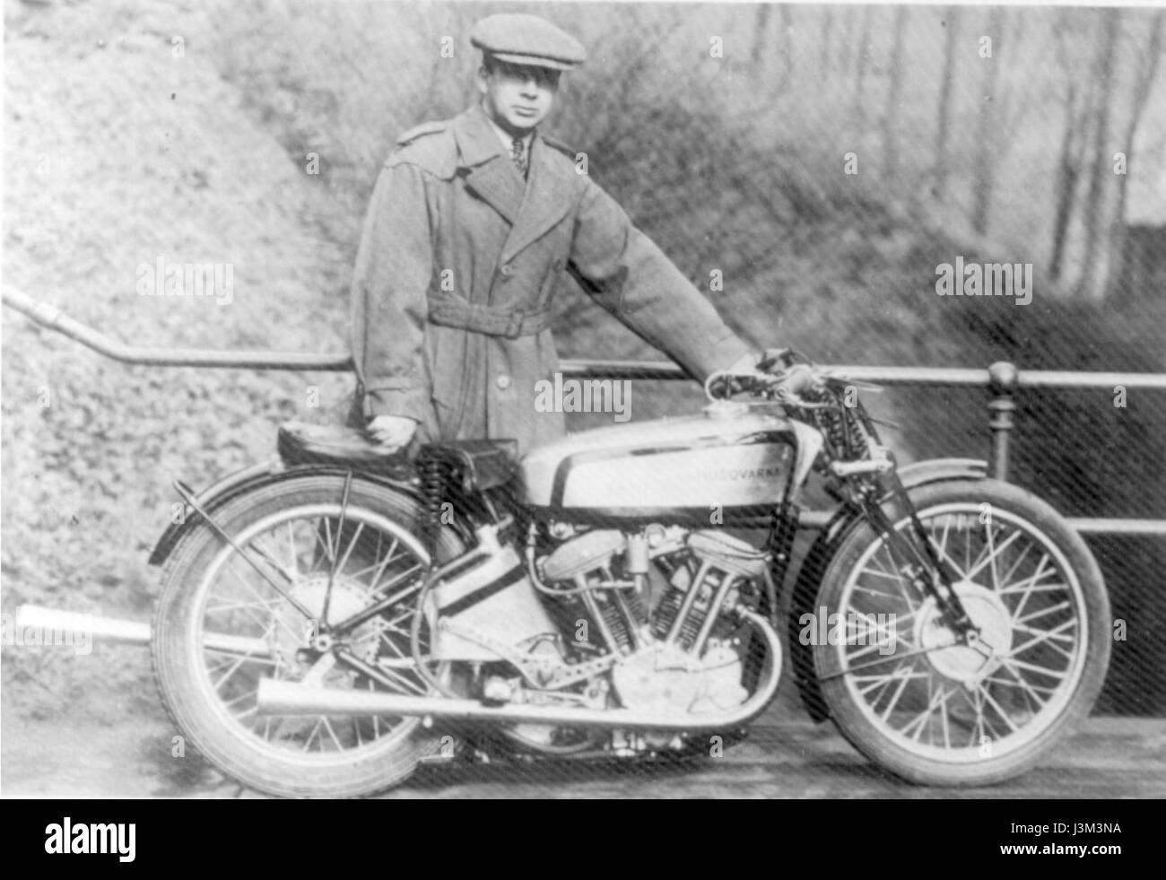 Husqvarna 500 cc racer 1935 - Stock Image