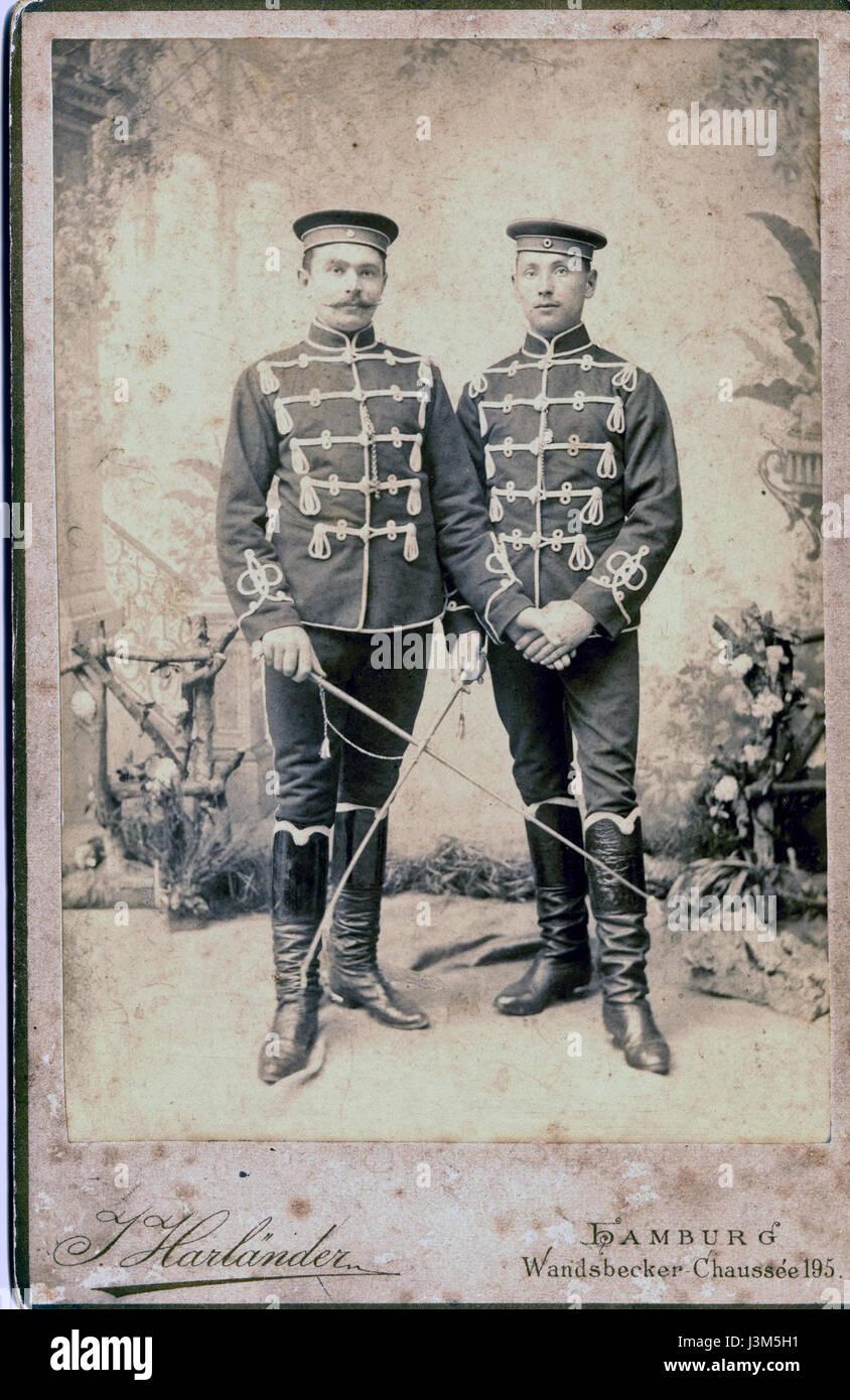 Husaren (Mannschaften) in Uniform - Stock Image