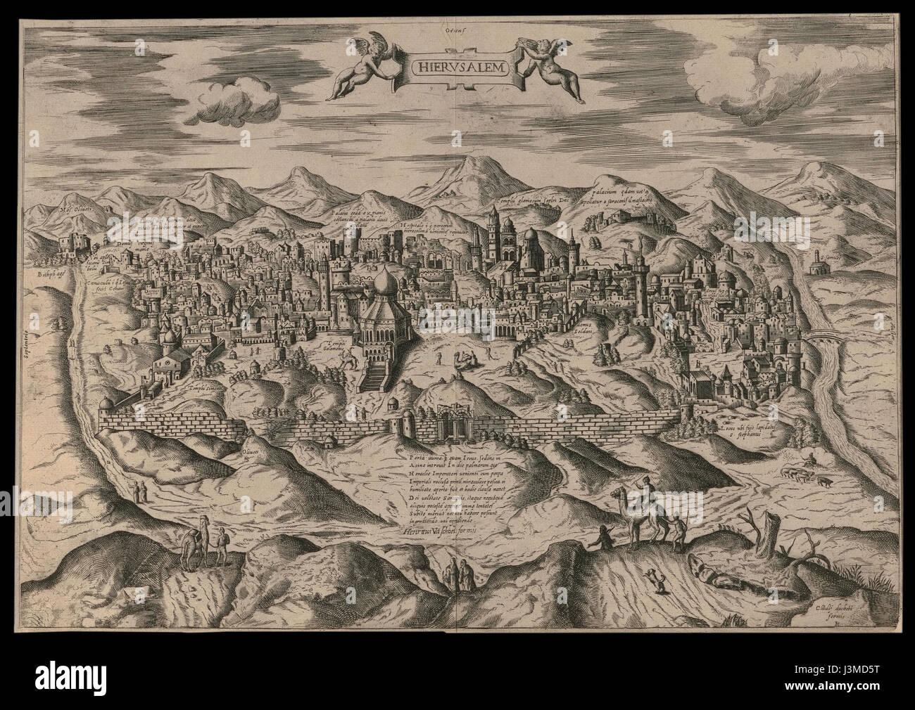 Hierusalem   Henricus Vaschoel formis Stock Photo