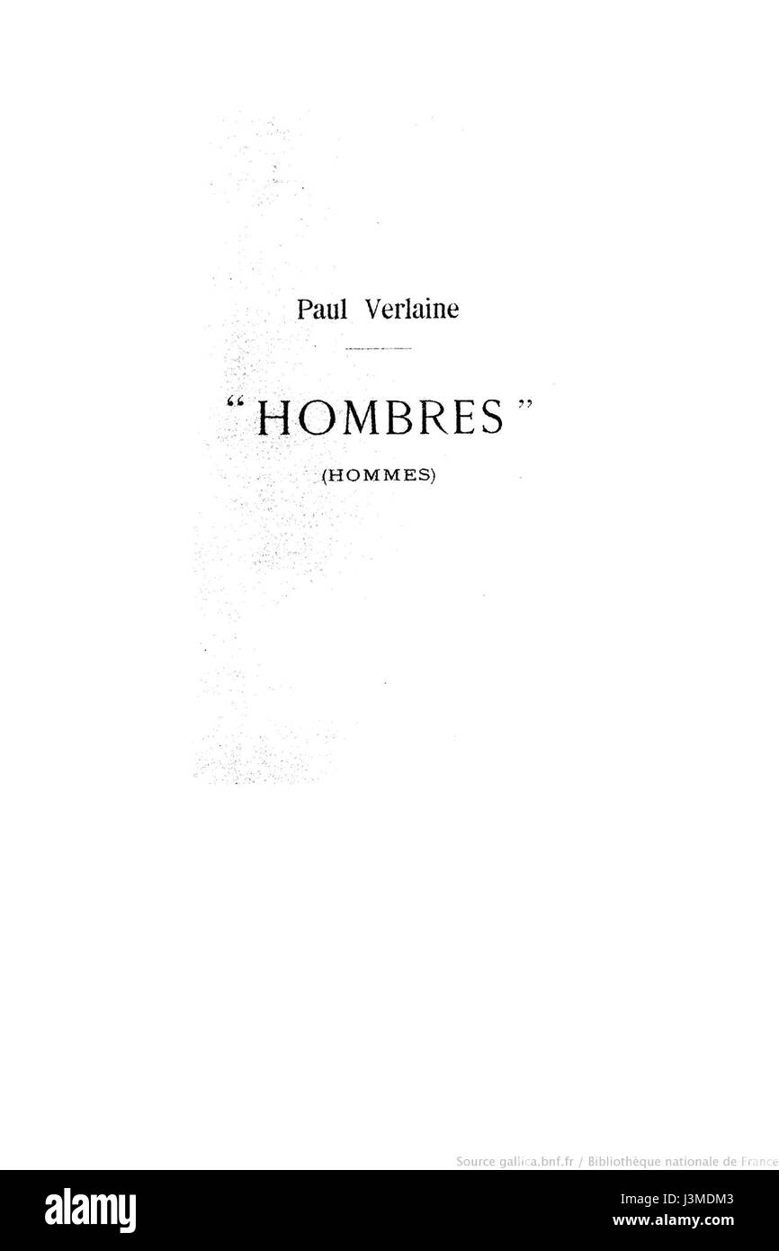 Hombres 1903 page 1.djvu - Stock Image