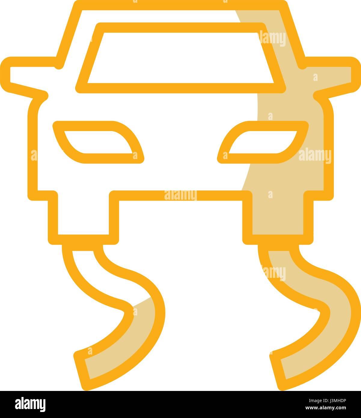 Slippery road traffic signal icon - Stock Image
