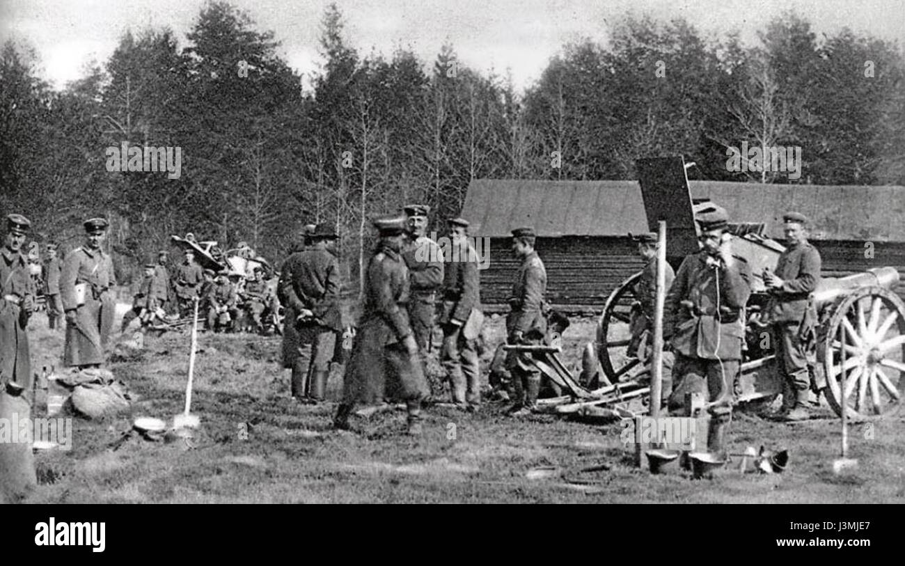 German artillery Malmi 1918 (2) - Stock Image