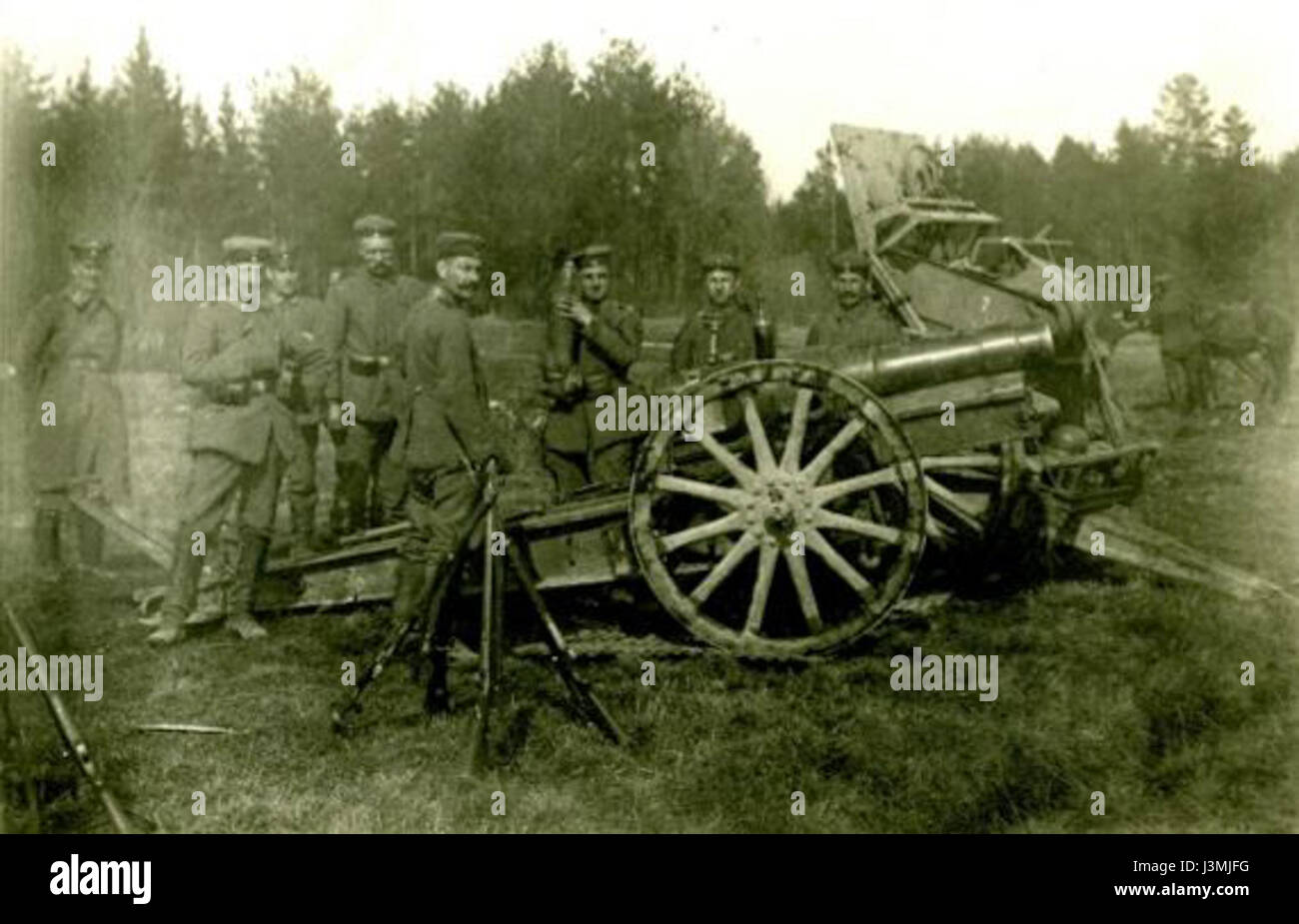 German Artillery Malmi 1918 - Stock Image