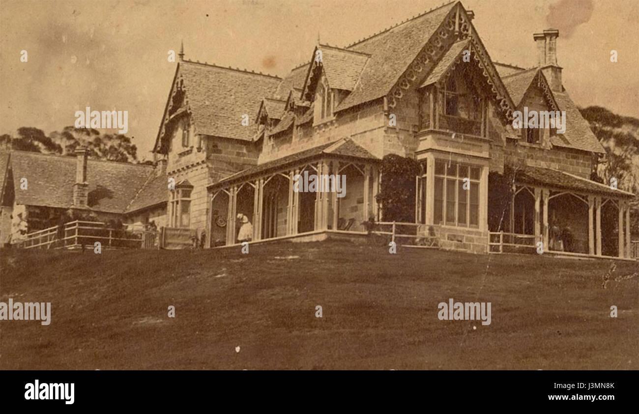 Greycliffe circa 1875 - Stock Image