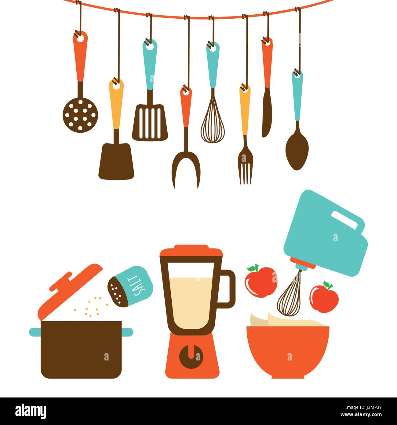 Kitchen Tools Design Stock Vector Image Art Alamy