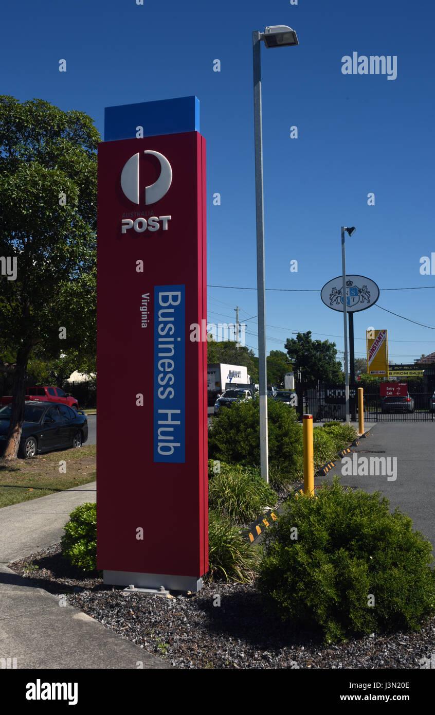 Brisbane, Australia: Australia Post Business Hub sign at
