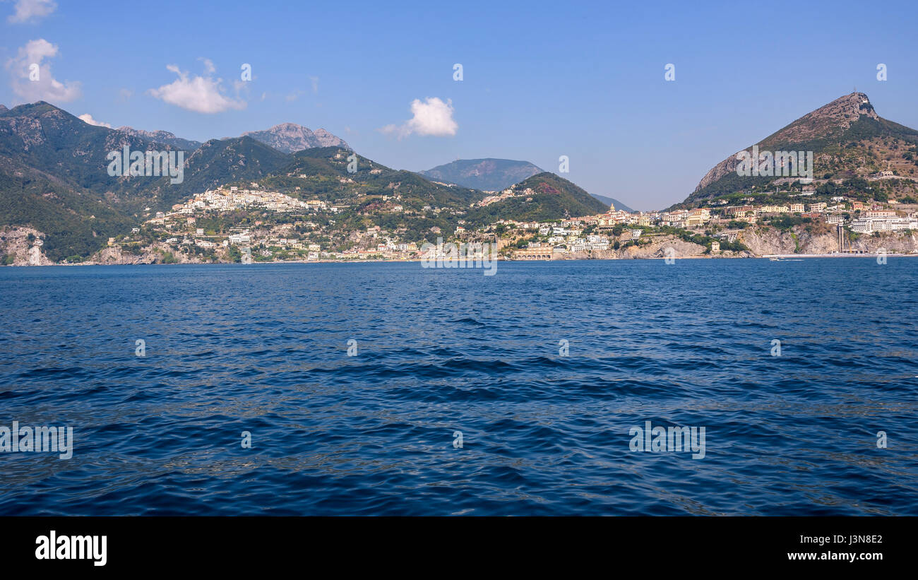 Panoramic view of Vietri Sul Mare town, Campania, Italy Stock Photo