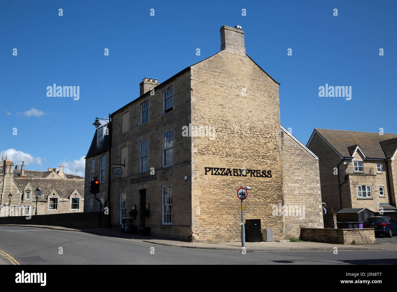Pizza Express In Stamford Lincolnshire Stock Photo