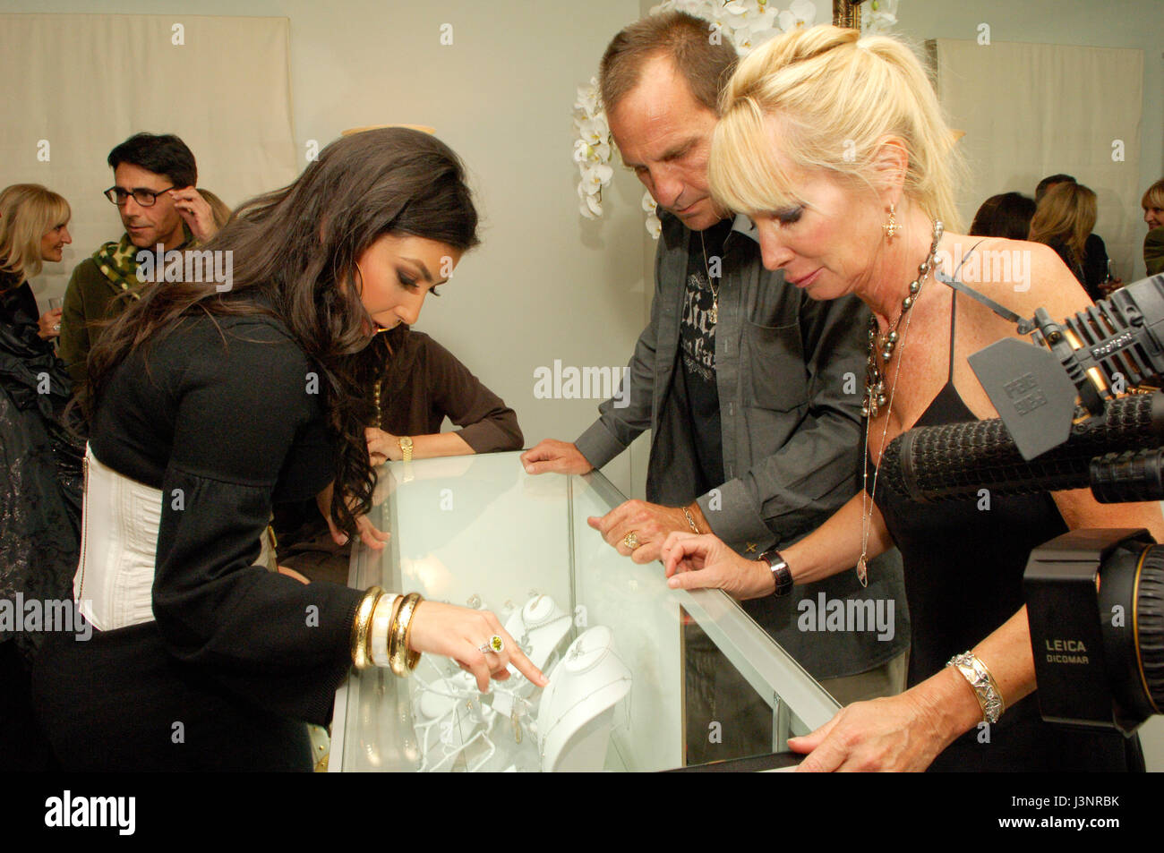 Kim Kardashian at the launch of Heavenly Sinful Jewels and GENLUX Magazine party on the rooftop at the Luxe Hotel Stock Photo