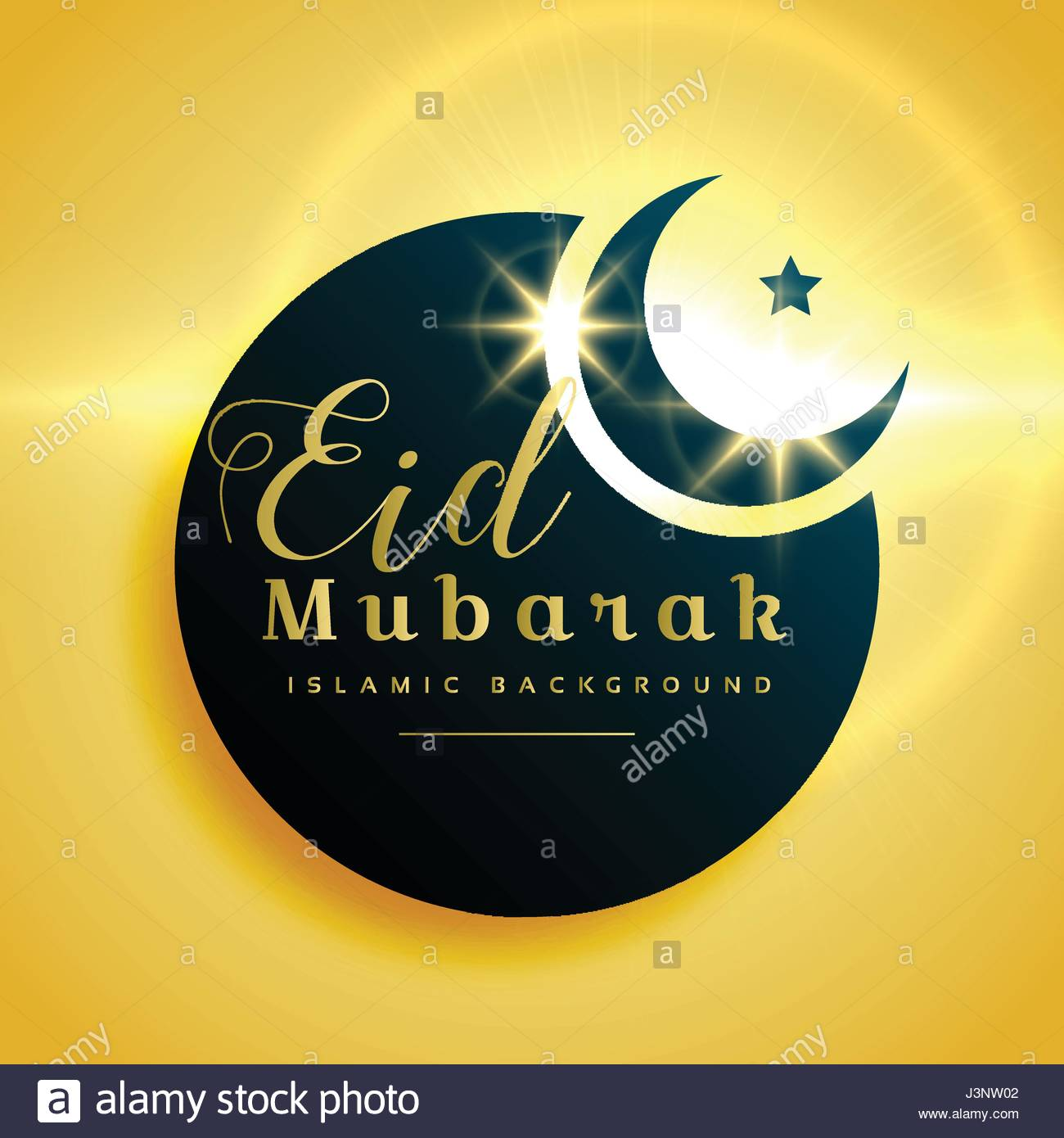 Beautiful eid mubarak greeting card design with crescent moon stock beautiful eid mubarak greeting card design with crescent moon m4hsunfo