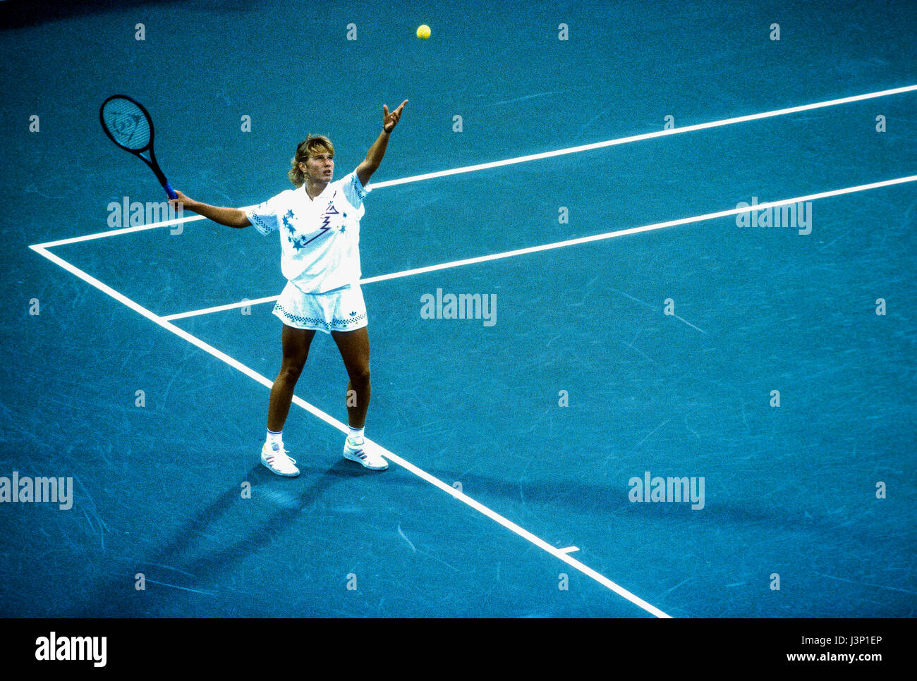 Steffi Graf (GER) competing at the 1987 US Open. - Stock Image