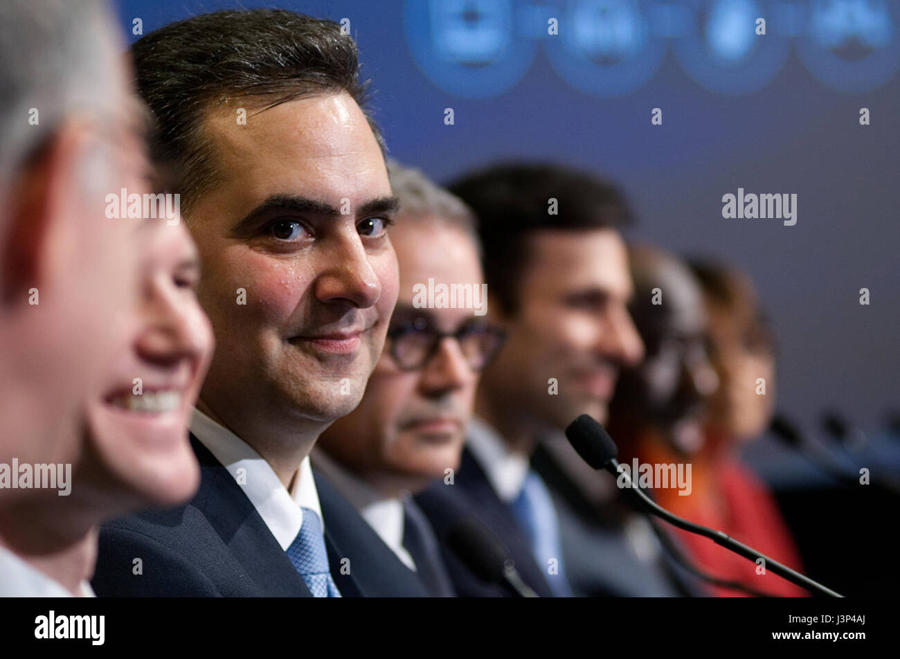 Rich Negrin at the Philadelphia District Attorney Debate at the WHYY Studios, in Philadelphia, PA, on April 27, Stock Photo