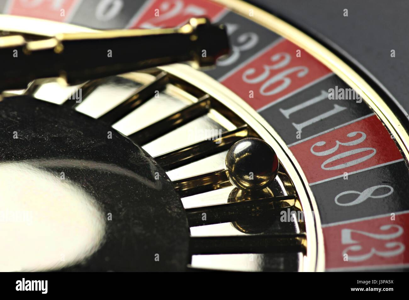 winning number in roulette - Stock Image