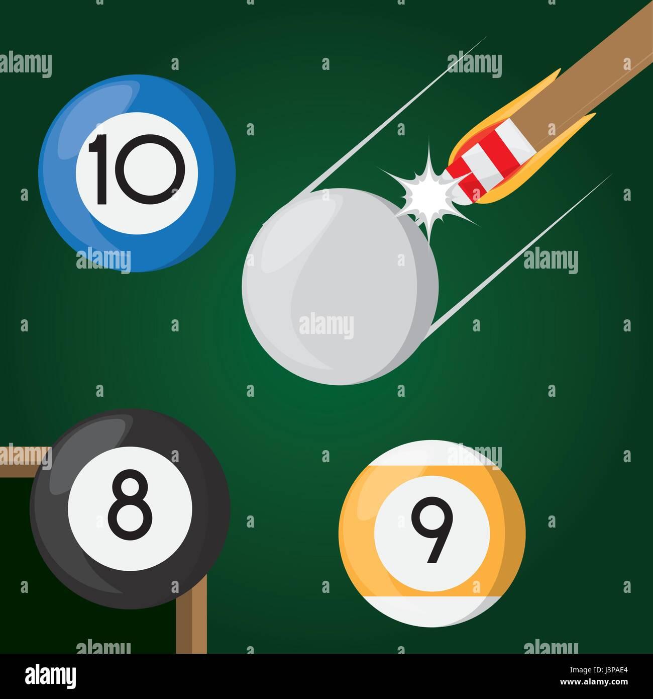 pool billiard hobby play game - Stock Vector