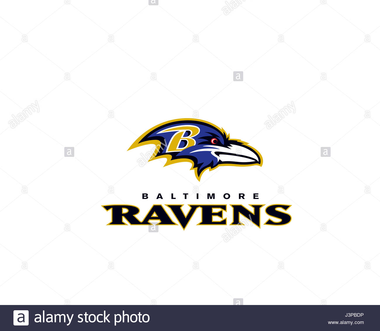 Baltimore Ravens NFL team - Stock Image
