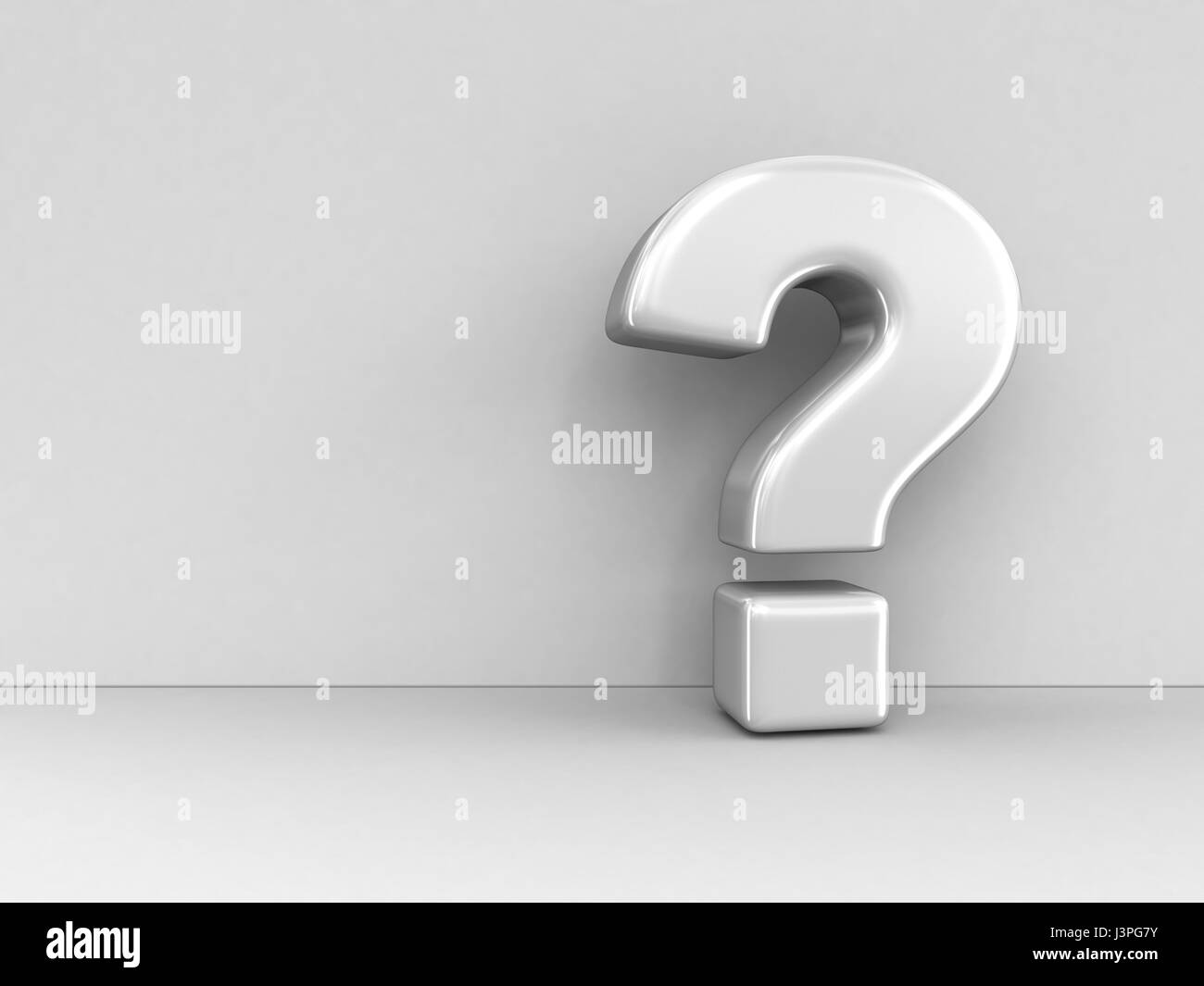 Big sign of question. Image with clipping path - Stock Image